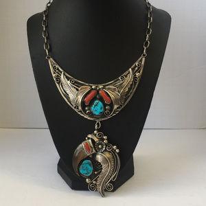 Vintage Sterling Silver Squash Bloosom Necklace